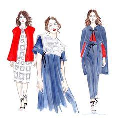 #natalileskova #MBFWRussia #fashion #illustration #fashionillustration #fashionart #runway #fashionweek #fashionillustrator #lenaker #watercolor