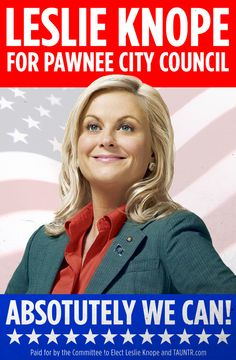 Parks and Recreation's Leslie Knope: You'll need a ladies' power suit, dress shirt, campaign button and lovely  Amy Poehler blond wig. You can carry a waffle or a Li'l Sebastian pony toy as an optional prop.
