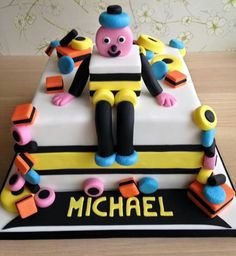Amazing Bertie Bassett liquorice allsorts cake for my Daddy's Birthday made by Glitter and Sparkle Cakes, Chilwell, Nottingham, England Daddy Birthday, 70th Birthday, Sparkle Cake, Dad Cake, Liquorice Allsorts, Retirement Cakes, Birthday Cakes For Men, Specialty Cakes, Novelty Cakes