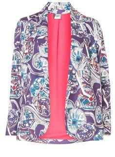 Purple Cut Printed Jacket