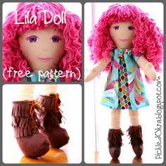 Pickled Okra:: Lila, a free doll pattern!
