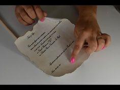 DIY: Como Fazer Papel Envelhecido (Pergaminhos e Rótulos de Bottle Charms - Medieval Scroll) - YouTube