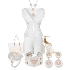 """All White Party Ready"" by momfor2girls on Polyvore"