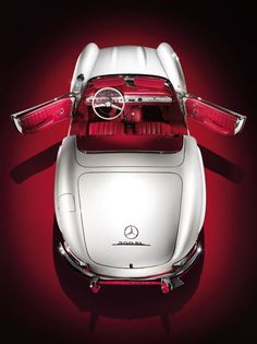 mercedes 300 SL...red interior yes!