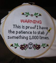 """29 Funny Memes That'll Get The Comedy Flowing - Funny memes that """"GET IT"""" and want you to too. Get the latest funniest memes and keep up what is going on in the meme-o-sphere. Embroidery Patterns, Cross Stitch Patterns, Embroidery Hoops, Hand Embroidery, Haha, Morning Humor, Just For Laughs, Cross Stitching, The Funny"""