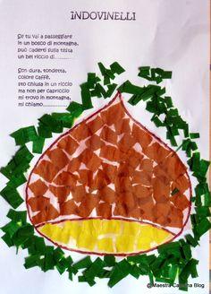 In autunno i bambini portano a Scuola   tutto quello che raccolgono nel loro ambiente   (foglie, frutti, funghi, pannocchie...).   Quest...