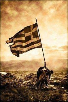 """We and support Greece, no matter what! Greek Mythology Gods, Greek Soldier, Greek Memes, Zakynthos Greece, Greek Flag, Greece Pictures, Greek History, Greek Culture, Athens Greece"