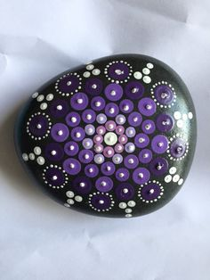Mandala Painted Stone - Large
