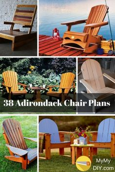 Pallet Picnic Table Plans Best Of 38 Stunning Diy Adirondack Chair Plans [free] Mymydiy Wooden Chair Plans, Rocking Chair Plans, Dog House Plans, Beach House Plans, Wood Patio Chairs, Outdoor Chairs, Outdoor Pallet, Wooden Chairs, Dining Chair
