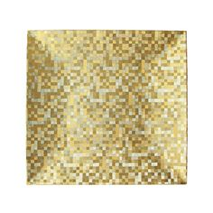 "The Jay Companies 13"" x 13"" Square Gold Mosaic Polypropylene Charger Plate"