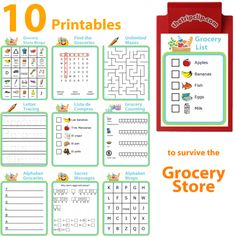 The Trip Clip has lots of great activities you can print and use at the grocery store with your kids. I like to take these to the grocery store with a small clipboard and pen to entertain my kids while I get the shopping done. Gentle Parenting, Kids And Parenting, Kids Grocery Store, Grocery List Printable, Baby Feeding Chart, Clip Free, Chore Chart Kids, Chores For Kids, Toddler Activities