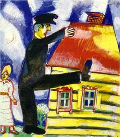 Marching - Marc Chagall 1915