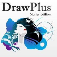 Serif DrawPlus Starter edition. Free graphic design software. Click on image to download from Serif's website.