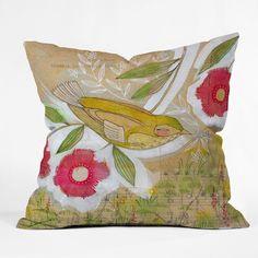 DENY Designs Cori Dantini Sweet Meadow Bird Indoor/Outdoor Throw Pillow