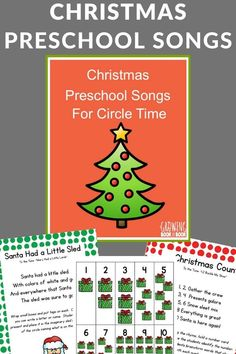 Literacy rich Christmas preschool songs to use for circle time. Includes printable songs and activities as well as links to song videos. Preschool Christmas Songs, Preschool Music, Christmas Activities For Kids, Preschool Learning Activities, Play Based Learning, Writing Activities, Early Learning, Free Activities, Christmas Fun