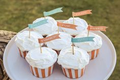 Shop Carnival Cupcakes Flag Toppers