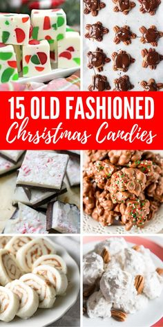 Old Fashioned Christmas Candies Easy Recipes and Desserts from years past All of your holiday favorite candy recipes in one place Perfect for Christmas Parties or to give. Old Fashioned Christmas Candy, Christmas Candy Gifts, Christmas Food Treats, Holiday Candy, Christmas Sweets, Christmas Cooking, Holiday Treats, Christmas Parties, Christmas Appetizers