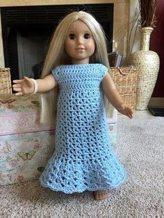 Ravelry: American Girl Little Bluebell Nightgown pattern by Patricia Klonoski