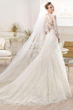 Sheath Wedding Dress : Atelier Pronovias 2014 yana wedding dress illusion back