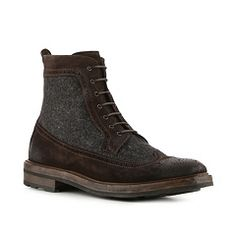 Ralph Lauren Collection Moatlands Suede & Flannel Wingtip Boot