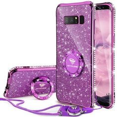 Galaxy Note 8 Case, Glitter Cute Phone Case Girls with Kickstand, Bling Diamond Rhinestone Bumper With Ring Stand Sparkly Soft Protective Samsung Galaxy Note 8 Case for Girl Women - Violet Purple #Galaxy #Note #Case, #Glitter #Cute #Phone #Case #Girls #with #Kickstand, #Bling #Diamond #Rhinestone #Bumper #With #Ring #Stand #Sparkly #Soft #Protective #Samsung #Girl #Women #Violet #Purple
