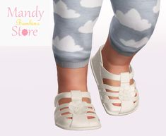 , Lovely Baby Girl Sandals - Lovely and soft fabric. Sims 4 Toddler Clothes, Sims 4 Mods Clothes, Sims 4 Clothing, Toddler Shoes, Sims 2, Sims 4 Mm Cc, Maxis, Sims 3 Shoes, The Sims 4 Bebes