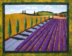 Summer in Provence II Original Art Quilt by by LenoreCrawford,