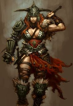 One of my favorite barbarian art pieces. *Note, use tattered cloth.