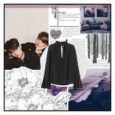 """""""Yoongi ~ Jungkook"""" by odesigns ❤ liked on Polyvore featuring art, kpop, bts, jungkook and yoongi"""