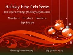 Placentia Library Holiday Series at Placentia Library Placentia, CA #Kids #Events
