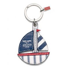 Key Rings - ACCESSORIES - Coach SAINT JAMES BOAT KEY RING STYLE: F64522