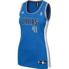 Adidas™ Women's Dirk Nowitzki Dallas Mavericks Road Jersey
