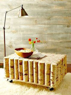 How To Build A Birch-log Coffee Table - 101 Easy DIY Spring Craft Ideas and Projects - DIY & Crafts