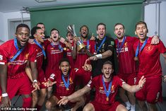 Liverpool stars show off FIFA Club World Cup title during photoshoot - Soccer Photos Liverpool Anfield, Liverpool Champions, Liverpool Players, Liverpool Fans, Liverpool Football Club, Liverpool Fc Wallpaper, Classic Football Shirts, Champions Of The World, Club World Cup