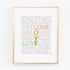Pink, Gold, & Seafoam Green LOVE (LOTS) Art | Gold and Pink Art | Nursery Print | Office Decor | Gold ArtYou Are Beautiful Art | Print for Wall Decor Nursery Decoration Gift | Home Wall Decor |. ♥♥♥ Welcome to Penny Jane Designs! ♥♥♥ ░░░░░░ PLEASE READ DETAILS CAREFULLY ░░░░░░ Your Penny Jane Design will be printed with professional Canon ink on high quality archival photo paper with a luster finish. All of our designs are printed on photo paper to insure the colors are as bright printed…
