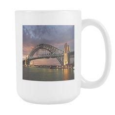 SYdney Harbour Bridge New South Wales double sided 15 ounce coffee mug