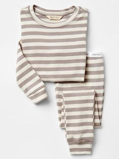 Organic stripe sleep set Product Image