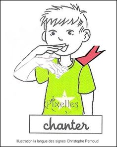 Chez t Annie. French Signs, Sign Language, Action, Annie, Education, Disney Characters, Montessori, Learn Sign Language, Group Action