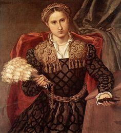 1544 Laura Pola by Lorenzo Lotto (Pinacoteca di Brera, Milano Italy) | Grand Ladies | gogm