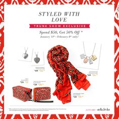 Book a trunk show now - there's till plenty of time to take advantage of these awesome deals!  Perfect for Valentine's Day!!! www.stelladot.com/sites/danahennesey