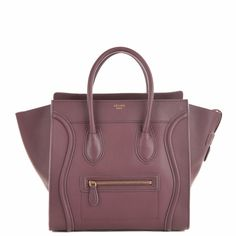 Celine Luggage Tote (30CM) in lavender smooth calf leather.
