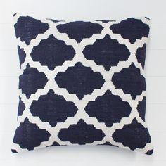 Geometric Indigo Cushion