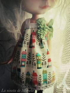 Blythe Doll Houses Dress by pinkedhood on Etsy, $17.00