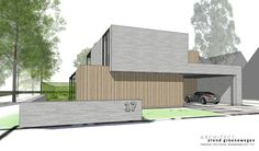 Minimalist Architecture, Modern Architecture, Facade Design, Prefab Homes, Front Design, Construction, Shed, Villa, New Homes