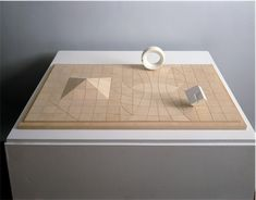 Isamu Noguchi's final model for the Sunken Garden at the Beinecke Rare Book and Manuscript Library, Yale University. circa 1963. Wood...