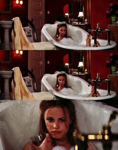 This is me...when I take a bubble bath...minus the veil. Though I think that might be a nice touch!