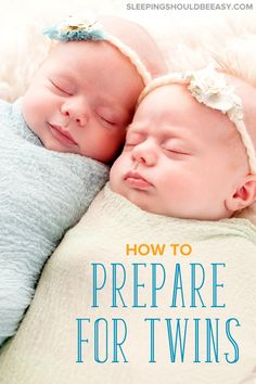 Overwhelmed with preparing for twins? Make sure you cover these 7 areas, and you'll be set on the right path (includes a checklist, too! Getting Pregnant With Twins, Expecting Twins, Pregnant With Twins Belly, Baby Care Tips, Baby Tips, Twin Tips, Newborn Twins, Newborn Poses, Triplets