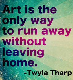 #Art is the only way to run away without leaving home. #GalleryDirect