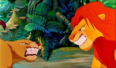 """""""The Lion King"""" - Simba and Nala fight."""