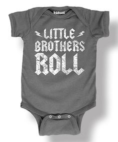 Another great find on #zulily! Charcoal 'little Brothers Roll' Bodysuit - Infant by It's Just Me #zulilyfinds